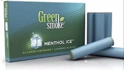 4 x Packs of 5 =(20) Cartomizer-Green Smoke Menthol Ice Flavour Volume 2.4 %%