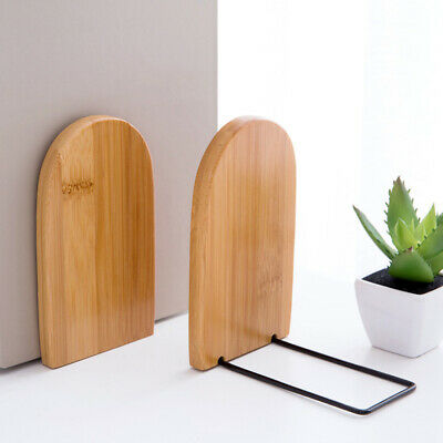 1pc Bamboo Bookends Retractable Book Frame Book Organizer Book Stand for School