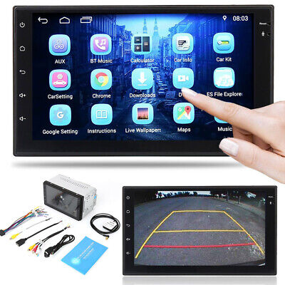 """7"""" Android Quad Core 16G Car Stereo Radio Double 2 DIN MP5 Player GPS Wifi USB"""