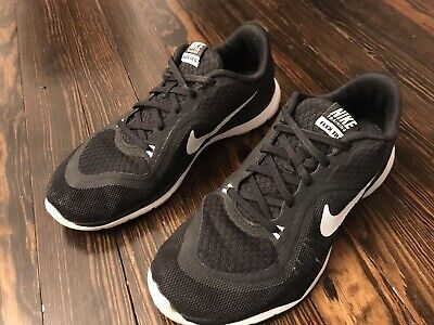 new style 7881d 8c1f9 Nike Womens Flex Trainer 6 Training Shoes 831217-001 Black White Size 7.5