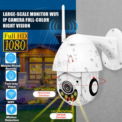 1080P 2MP PTZ WIFI IP Security Camera Intercom Waterproof Night Vision Cam Lot