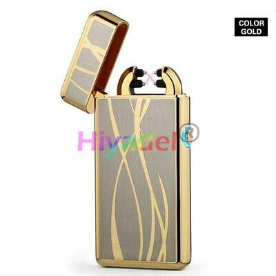 Lighter Electric Rechargeable Arc Usb Windproof Flameless Dual Plasma Torch