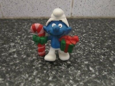 Smurfs Christmas Smurf with Candy & Gift smurf vintage (e)