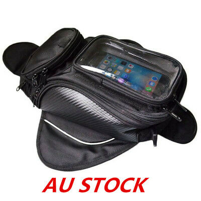 NEW Sports Magnetic Oil Fuel Tank Bag With GPS/Phone Pouch For Motorcycle Black