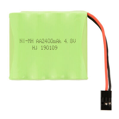 RC 4.8V 2400mAh AA Ni-MH Rechargeable Flat Battery w/ Futaba Connector BC818