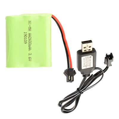 AA Ni-MH Battery Rechargeable 3.6V 2600mAh with SM Plug+USB Charger Cable BC821