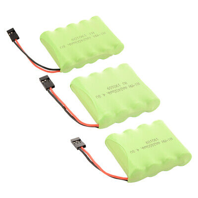 AA NI-MH 4.8V/6.0V 2400/2600mAh Rechargeable Flat Battery Pack for RC Car Futaba