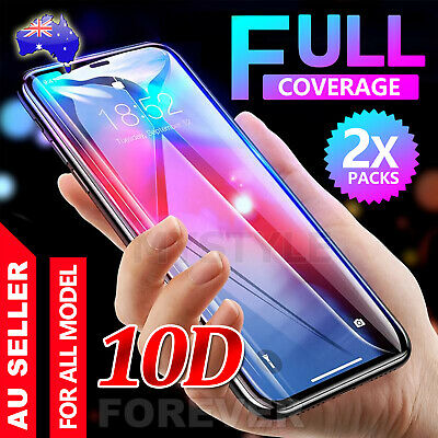 For iPhone XS Max XR 10D Tempered Glass /TPU Screen Protector Real Full Coverage