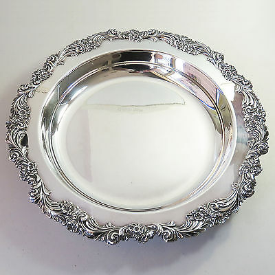 Vintage Stokes Silverplate Food Serving Tray Dish, Ornate Floral Design