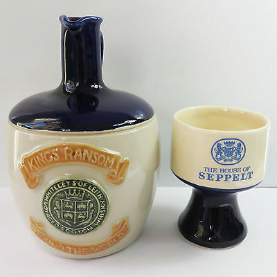 Vintage King's Ransom Whiteleys Leith Voyaged Scotch Whisky Jug & Seppelt Goblet