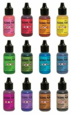 Tim Holtz Ranger 'ALCOHOL PEARLS' 14ml (Choose from 12 Colours) Mixed Media