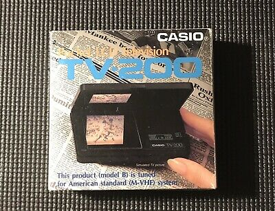 Vtg Casio Computer TV-200 Portable LCD Pocket Analog Television TV New In Box!