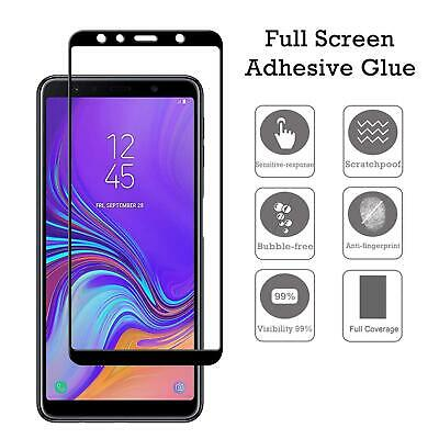 For Samsung Galaxy A7 2018 3D Full Cover Real Tempered Glass Screen Protector US