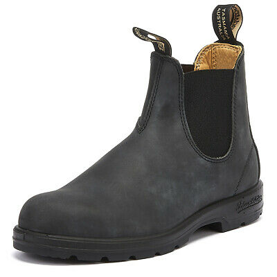 c11be1ca6db8 Blundstone 587 Mens Rustic Black Chelsea Boots Leather Warm Winter Ankle  Shoes