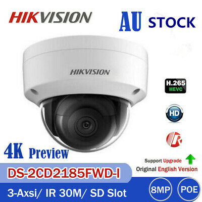 HIKVISION Ultra 4K 8MP DS-2CD2185FWD-I Dome IP IR POE IP67 Security Camera H.265