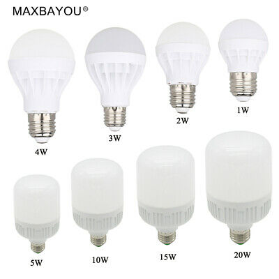 B22 E27 Led Lights Bulb 20W15W10W5W4W3W2W1W Cool White Warm White AC220-240V