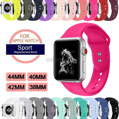 Replacement Soft Silicone Sport Watch Band Strap For Apple Watch Series 4 3 2 1