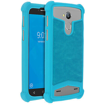 Coque Universelle Smartphone 5 à 5,3 pouces Protection Silicone Gel turquoise