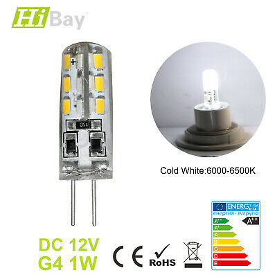 1X 1W G4 LED Bulb Cool White 12V DC Light 2 PIN Capsule Lamp Replace 15W Halogen