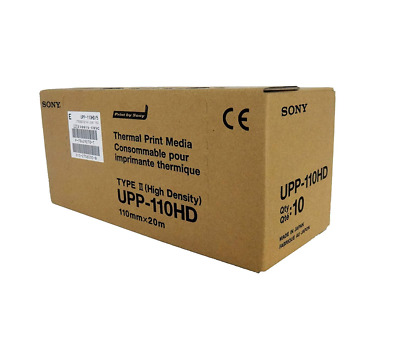 SONY UPP110HG High Glossy Videographic Thermal Paper Rolls for Medical Printer