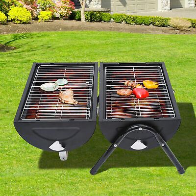Outsunny Garden Charcoal BBQ Cooker Heating Portable Tabletop Barbecue Grill