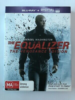 The Equalizer (Blu-ray, 2015) VGC Movie 🍿 Rated MA15+ Denzel Washington Action