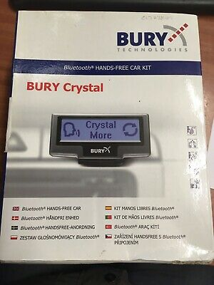 Bury Crystal Hands Free Bluetooth Complete Kit **brand New**