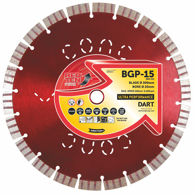 Red Ten Bgp-15 Self Cooling Ultra Performance Concrete & General Purpose Blades