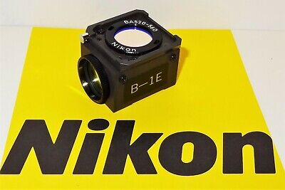 Nikon B-1E Fluorescent Microscope Filter Cube for Labophot, Optiphot, Microphot