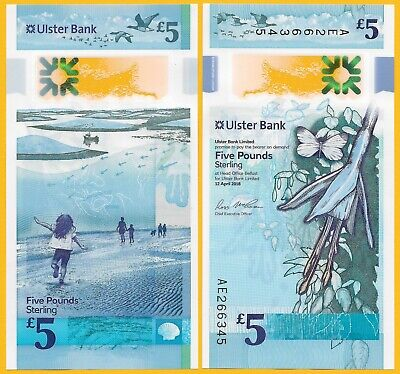 Northern Ireland 5 Pounds p-new 2018(2019) Ulster Bank UNC Banknote