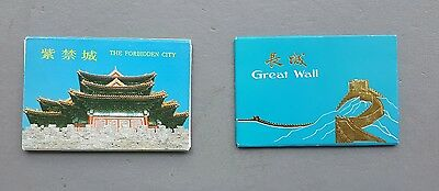 1960's China Vintage Chinese Postcards Booklets Great Wall & The Forbidden City