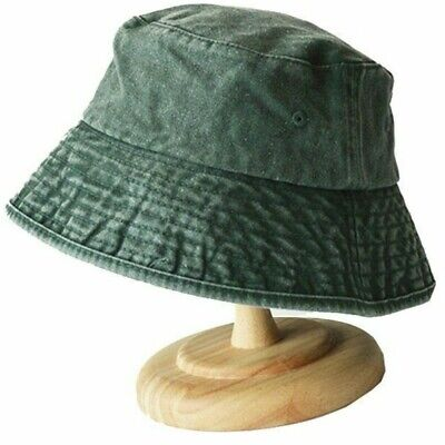 Summer Fisherman Hat Men And Women Outdoors Denim Wash Old Bucket Hats by AKIZON