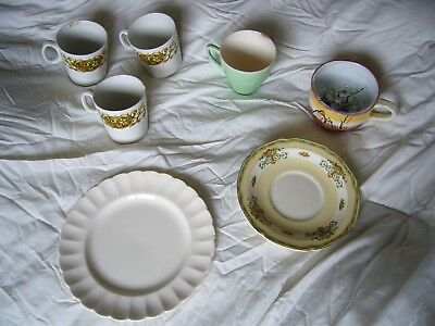 Joblot 7 Ceramic Plates & Mugs & Grindley Tunstall Plate