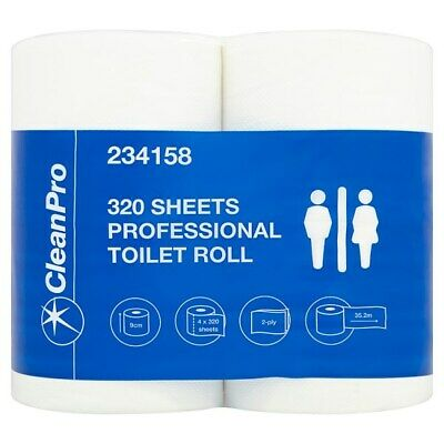 Clean Pro 320 Sheets Professional Toilet Roll 8 Rolls