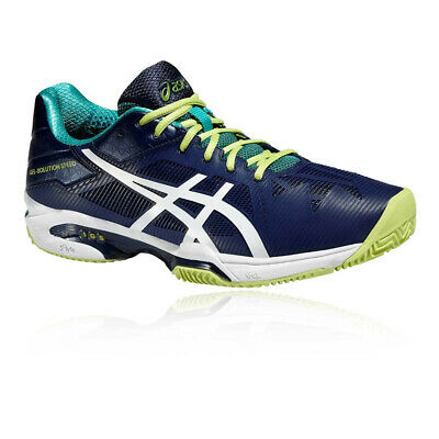Asics Mens Gel-Solution Speed 3 Clay Tennis Shoes Blue Sports Lightweight