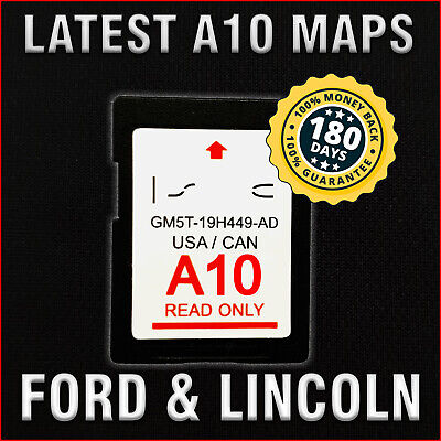 2013-2016 Ford Edge Escape Focus F150 Mustang SYNC2 A10 Navigation SD Card