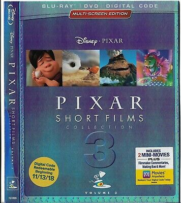 Disney/Pixar-Short Films Collection 3-Bluray Slipcase/Sleeve Only *No Disc*