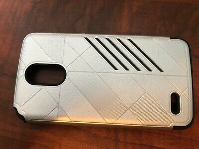 For LG Stylo 3 Plus, Armor Case, Silver. Hard Case.