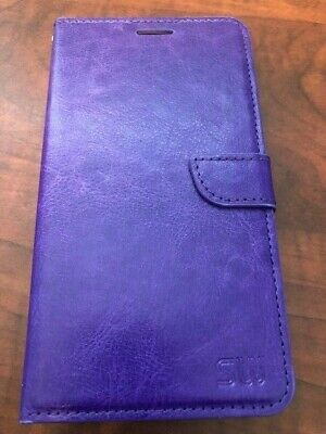For LG Stylo 3 Plus, Leather Flip Cover Case, Purple.