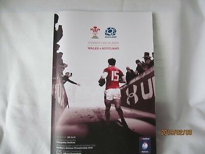 Wales v Scotland. Rugby Union. 2018.Programme + Event Tickets.