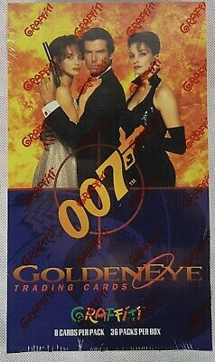 James Bond Goldeneye Trading Card Sealed Box, Graffiti 1995, New & Sealed.