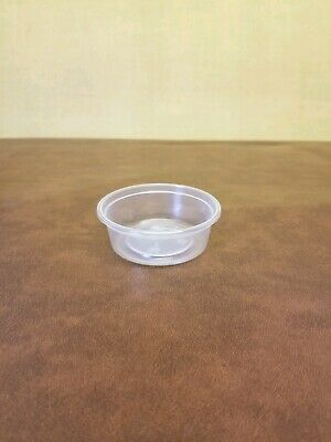 150 x Clear Plastic 2oz Tubs Only MAJESTIC Containers Cups Pots No Lids