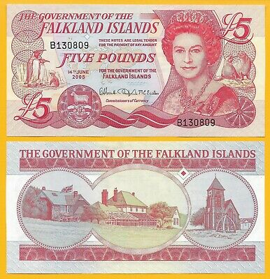 Falkland Islands 5 Pounds p-17 2005 UNC Banknote