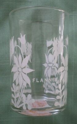 Retro Vintage Swanky Swig Promotional Glass - White Flannel Flowers with Name