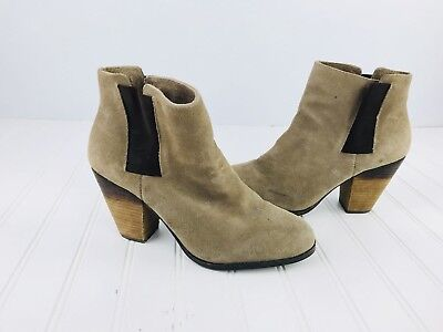 0c994668cdc Womens Taupe Beige Vince Camuto Leather Boots Hessa Slip On Size 8.5 Bootie
