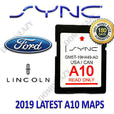 Ford Lincoln Latest Navigation Sd Card A10 Map 2019 2018 Sync Update A9 A8