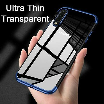 For Samsung Galaxy S10 Plus A7 2018 Shockproof Plating Clear Case Soft TPU Cover