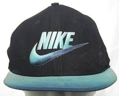 85169745ad2a6 Nike True Champion Athletes Strapback Cap Black Blue   Green Swoosh 1 Size  Hat