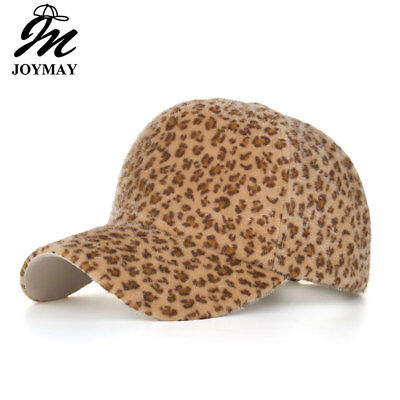 AKIZON New arrival Winter Leopard Print Baseball Cap Casual Adjustable Hats