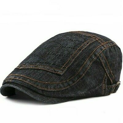 Newsboy Caps Fashion Beret Hat Denim Cotton Berets Hats Men Flat Cap [AKIZON]